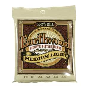 Ernie Ball 2003 Earthwood Medium-Light 80/20 Bronze Acoustic Guitar Strings, .012 - .054