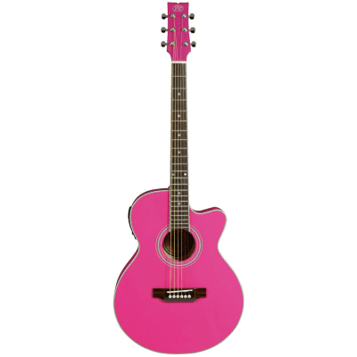 JB Player Thin Body JBP Acoustic Electric Guitar - Pink - JBEA15PK for sale