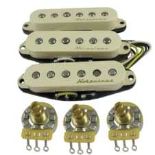 Fender Stratocaster pickups - Genuine Vintage Noiseless for Strat, set of 3 P/U + potentiometers