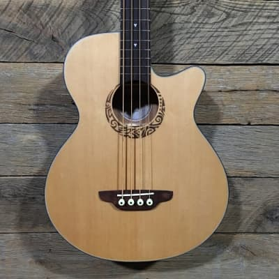 Luna LAB 30 TRIBAL Short Scale Acoustic Bass for sale