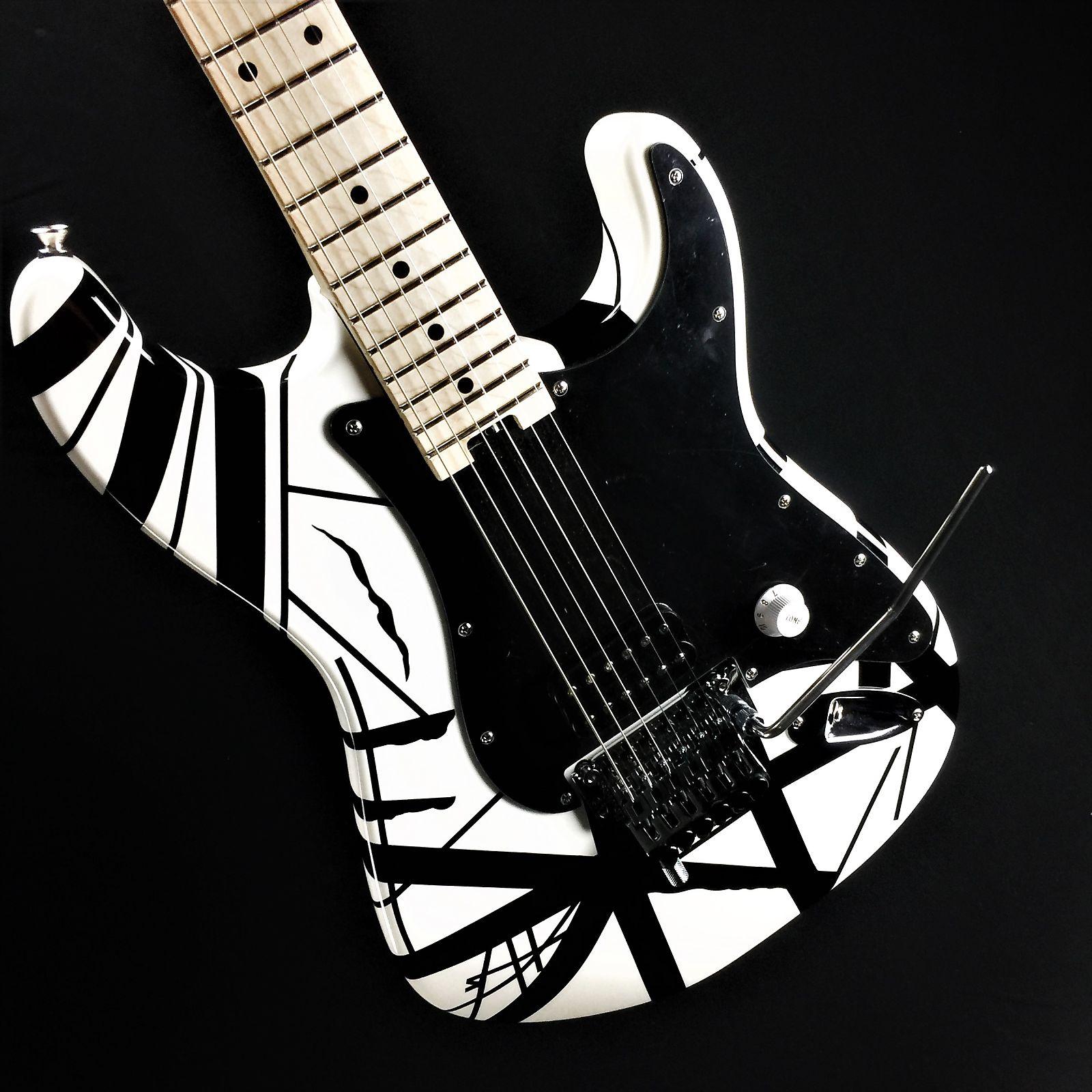 39aa075795d EVH Striped Series- White w  black stripes