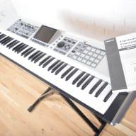 Roland Fantom X7 keyboard synthesizer near MINT-used 76 key piano for sale