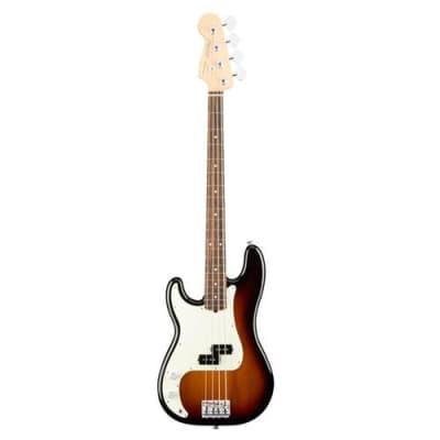 Fender American Professional Left-Handed Precision Bass Guitar, Rosewood Fingerboard, 3-Color Sunburst