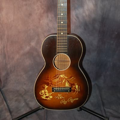 1955 Roy Rogers Cowboy Guitar 1/2 size Neck Reset Pro Setup Original Soft Shell Cowboy Case for sale