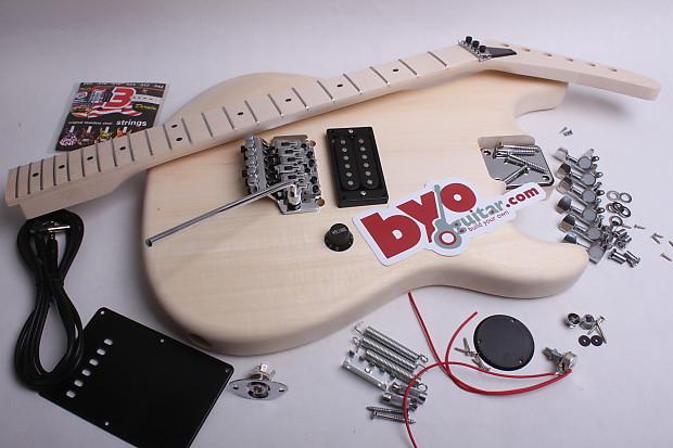 BYOGuitar Lunatic Electric Guitar Kit Unfinished   BYOGuitar