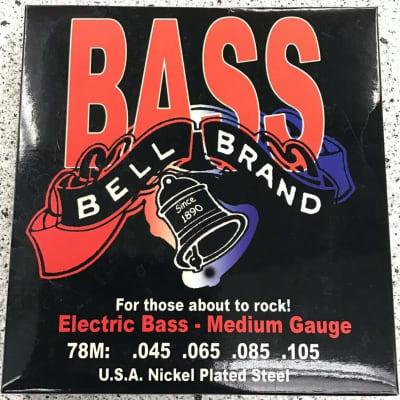 Bass Bell Brand Electric Medium Gauge ga 78M Nickel Plated Steel Guitar Strings