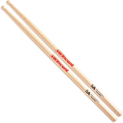 Wincent 5A Hickory Drumsticks, Wood Tip