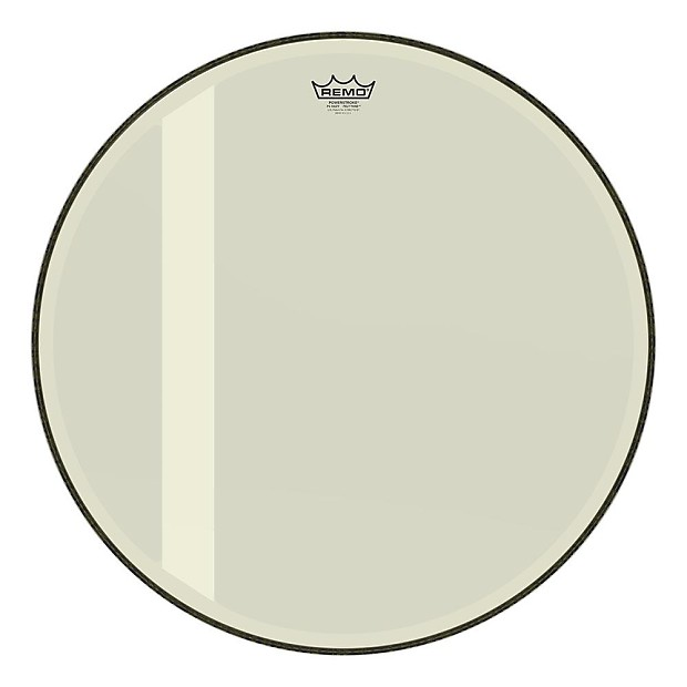 remo 24 powerstroke 3 felt tone bass drum head hazy reverb. Black Bedroom Furniture Sets. Home Design Ideas