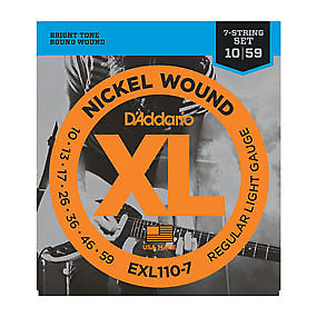 d 39 addario exl110 7 electric guitar strings reverb. Black Bedroom Furniture Sets. Home Design Ideas