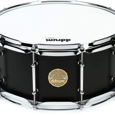 """ddrum Dios Maple Snare Drum - 6.5"""" x 14"""" - Satin Black"""