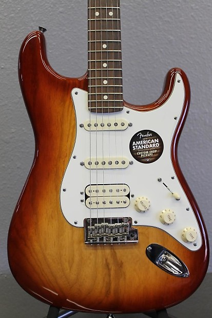 2013 Fender American Standard Stratocaster HSS Guitar - Sienna Sunburst