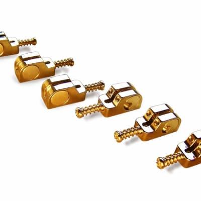 Babicz Full Contact Hardware Strat Saddle Kit - Gold for sale