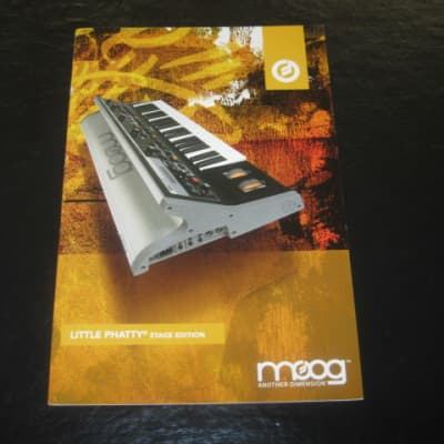 lite wear mostly fine MOOG LITTLE PHATTY Stage Edition small product brochure