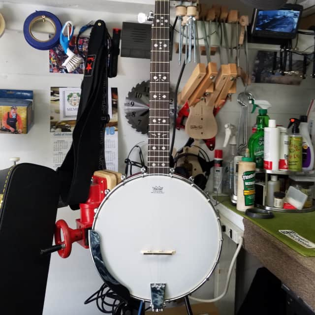 Fender Rustler 5 String Banjo 2016 Satin Stain Red/Brown image