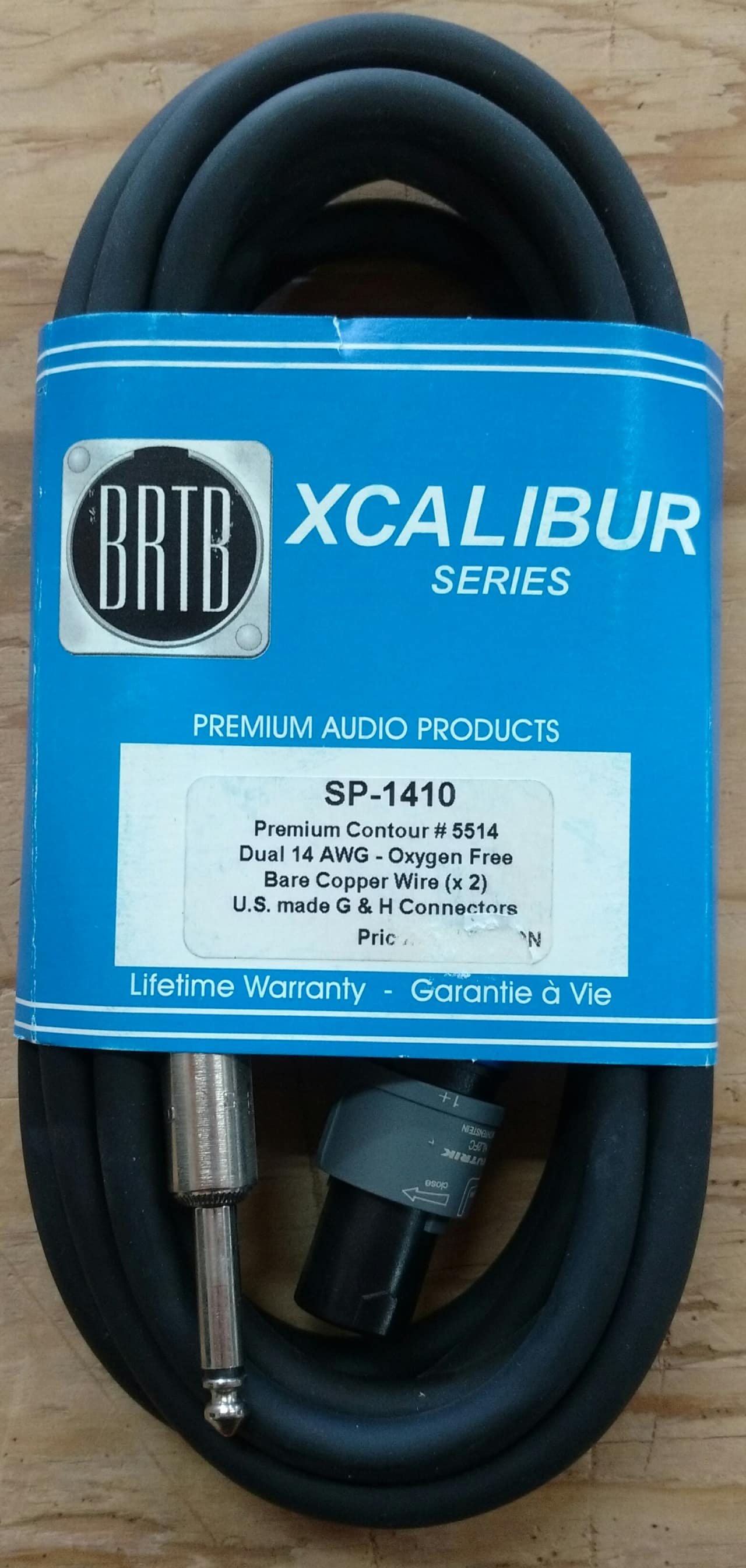 BRTB SP-1410 10\' speaker cable 1/4 to speakon   Reverb