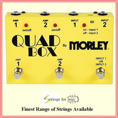 Morley Quad Box Guitar and Amp Switcher Controls 2 Guitars & 2 amps for sale