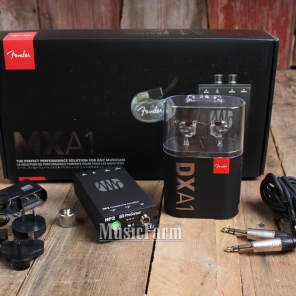 Fender MXA1 DXA1/HP2 In-Ear Monitoring Headphones Bundle with PreSonus HP2 Amplifier