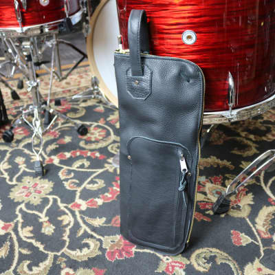 Woodshed Leatherworks Basic Black Leather Stick Bag