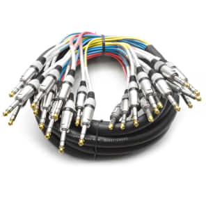 """Seismic Audio SASRT-12x15 12-Channel 1/4"""" TRS Snake Cable - 15'"""