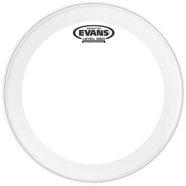 evans 22 eq3 batter clear drum head backstage music reverb. Black Bedroom Furniture Sets. Home Design Ideas