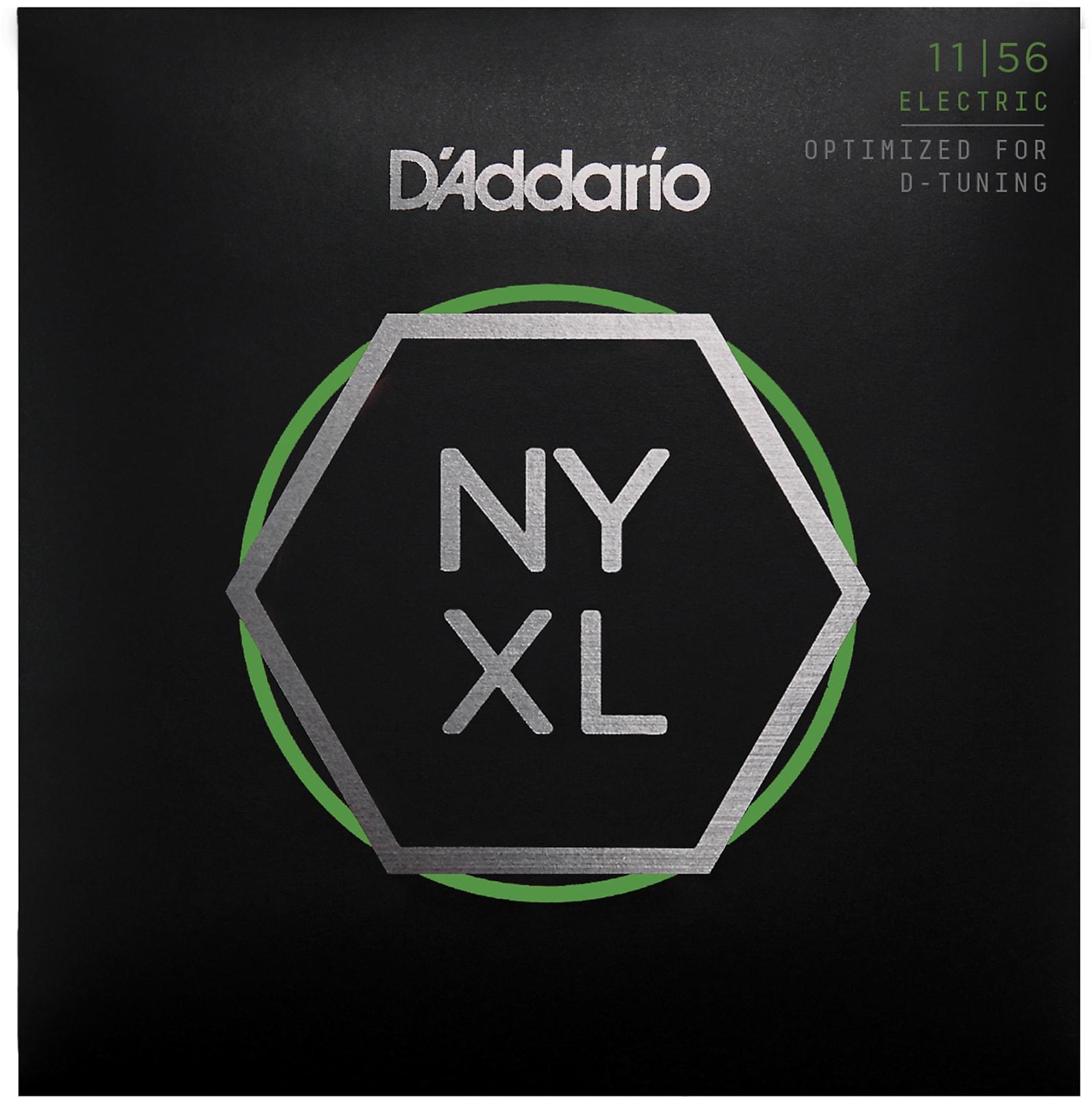 D'Addario NYXL1156 Nickel Wound Electric Guitar Strings, Medium Top / Extra-Hea