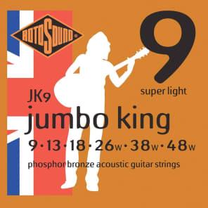 Rotosound JK9 Jumbo King Phosphor Bronze Acoustic Guitar Strings - Super Light (9-48)