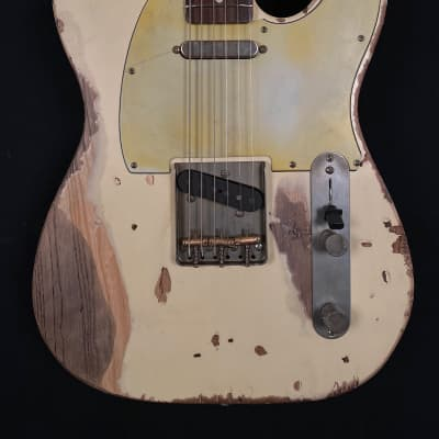 Nash Guitars T-63 Tele T63  Olympic White - Extra Heavy Relic