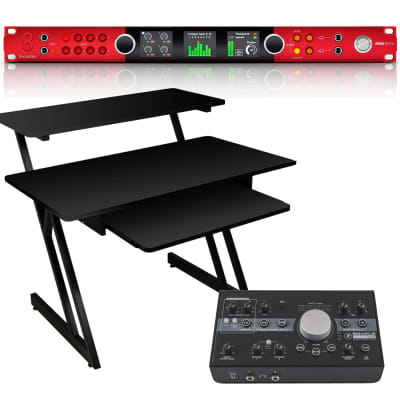 Focusrite Red 8Pre Audio Interface, On-Stage WS7500, Mackie Big Knob Studio Bundle