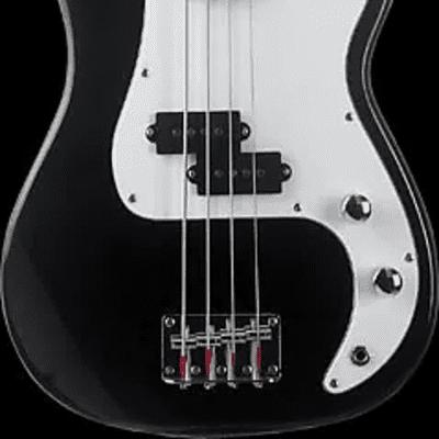 Oscar Schmidt OSB-400C-BK Precision 3/4 Size Solid Body Maple Neck 4-String Electric Bass Guitar for sale