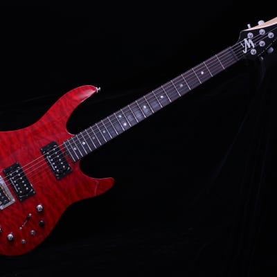 Brian Moore  iGuitar iM Midi 8.13  Red Flame for sale
