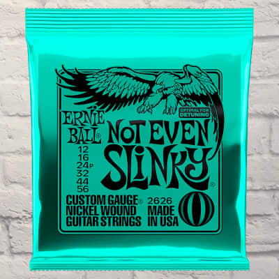 Ernie Ball EB2626 Not Even Slinky Drop Tuning Nickel Electric Guitar Strings 12-56