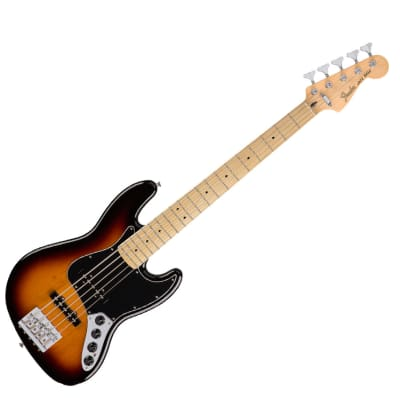 Fender Deluxe Active Jazz Bass V - 3-Color Sunburst w/ Maple Fingerboard - Used for sale
