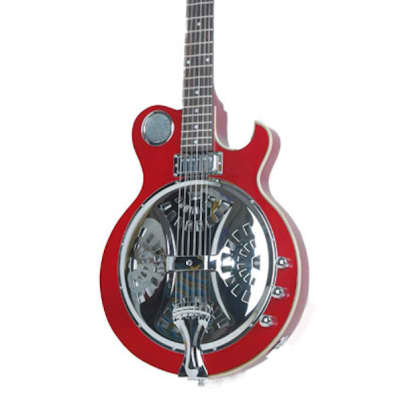 Alden AD-RES Electric Resonator Guitar Trans Red Single Cutaway Solid Slim Body New for sale