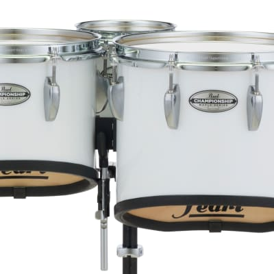 Pearl 6+10+12+13+14 Championship Maple Marching Tom Set - Pure White