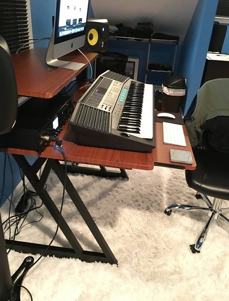 On Stage Studio Desk Professional Workstation 2017 New Rosewood