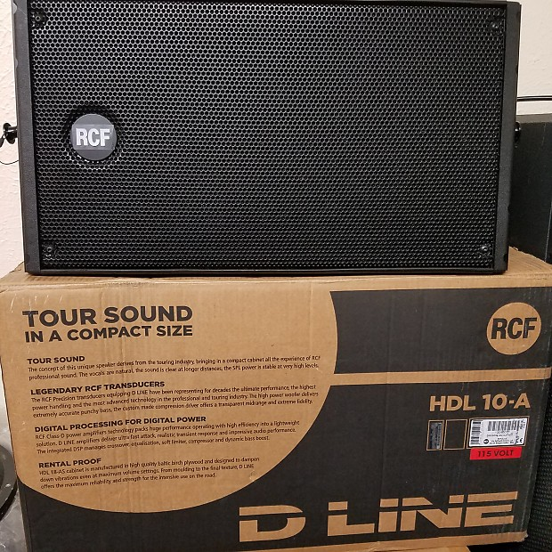 RCF HDL-10a D-Line 1400 Watt Peak Active Line Array Speaker