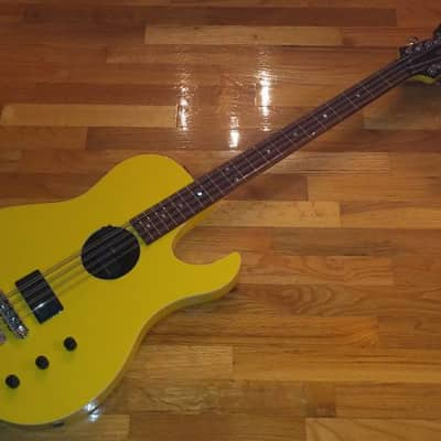 Hamer B12-A A12 ACOUSTIC 12 String Bass 2009 Graffiti Yellow for sale
