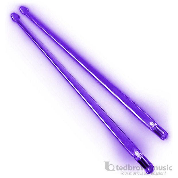 1 Pair FireStix Light Up Lexan Drumsticks Purple Haze