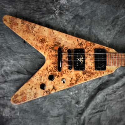 Colossus OFFSET Flying V Custom Guitar Artisan Hand Crafted by Black Diamond USA for sale