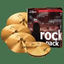 """Zildjian Rock Music Pack - 17"""" & 19"""" Crashes, 20"""" Ride,  14"""" MS HiHats"""