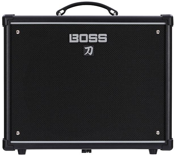 new boss ktn 50 katana 50w 1x12 guitar combo amp black reverb. Black Bedroom Furniture Sets. Home Design Ideas