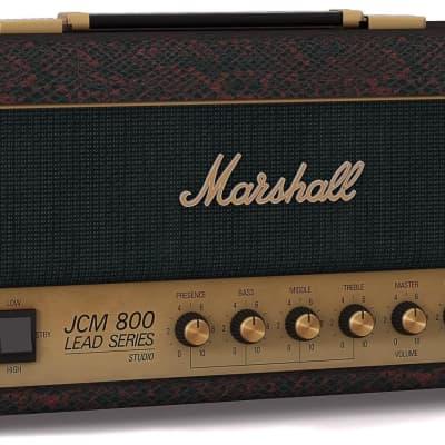 Marshall Ltd Edition 20 Watt 2203 head in Black & Red Snakeskin