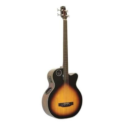 Boulder Creek Tobacco Burst Acoustic/ Elect 4-Str Fretless Bass EBR1-TB4FE for sale