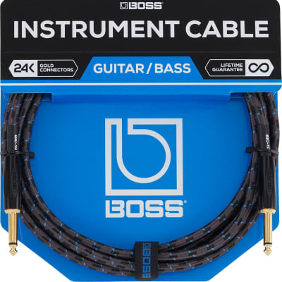 """Boss BIC-10 1/4"""" TS Instrument Cable - 10'"""