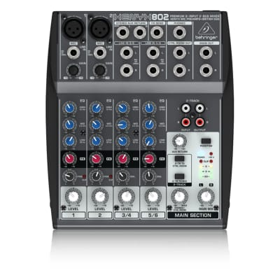 Behringer 802 8-Input 2-Bus Mixer, XENYX/EQ Demo Open Box