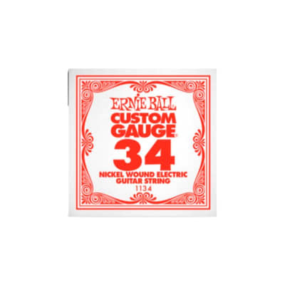 Ernie Ball Nickel Wound Single String 034