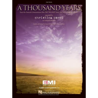 """A Thousand Years"" from the Summit Entertainment film ""The Twilight Saga: Breaking Dawn - Part 1"" recorded by Christina Perri (Easy Piano)"