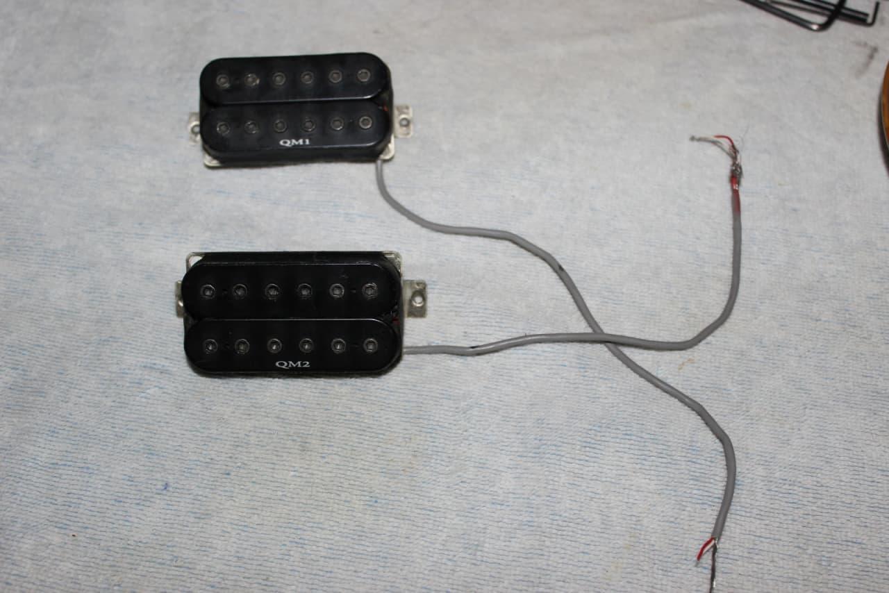 Ibanez QM1 QM2 Pickup set Black   Reverb