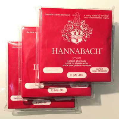 3x Hannabach 805 SHT Classic guitar strings set nylon / bronze
