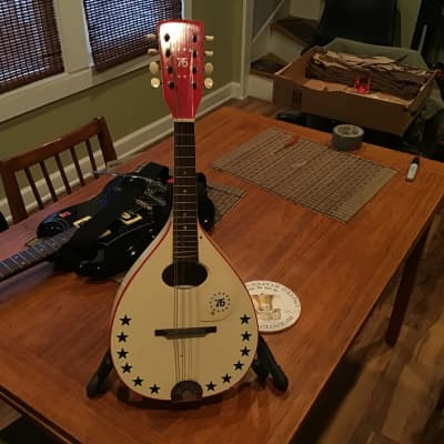 Harmony Mandolin 1976? Bicentennial Red, White and Blue for sale